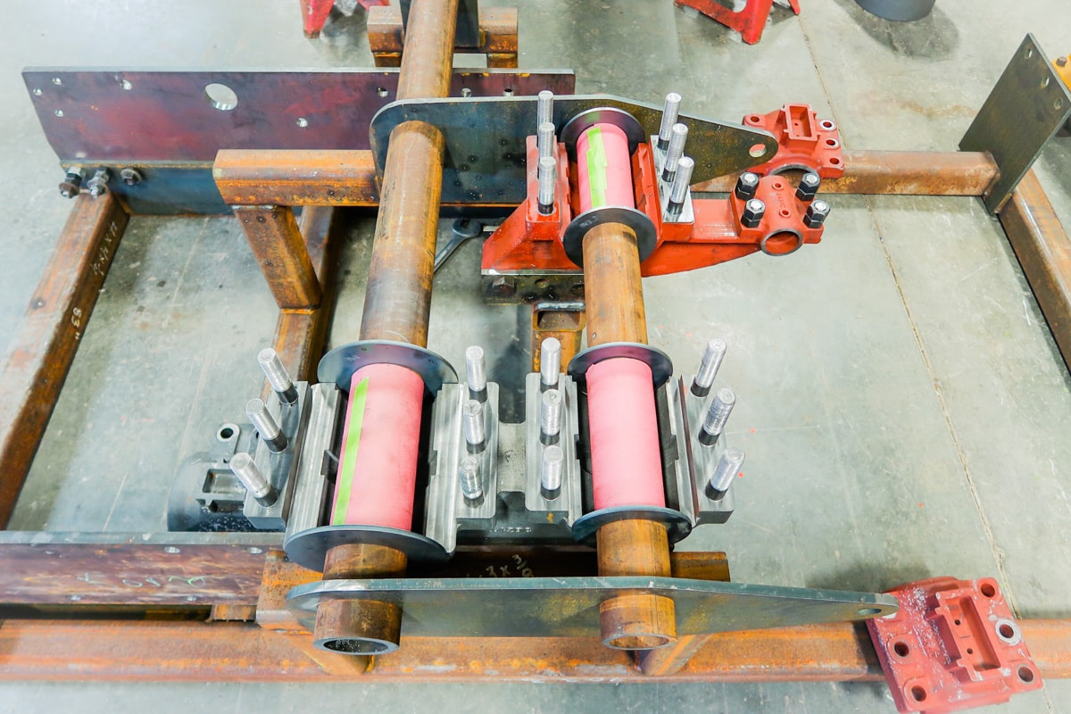 Bearings Prepped for Babbitt