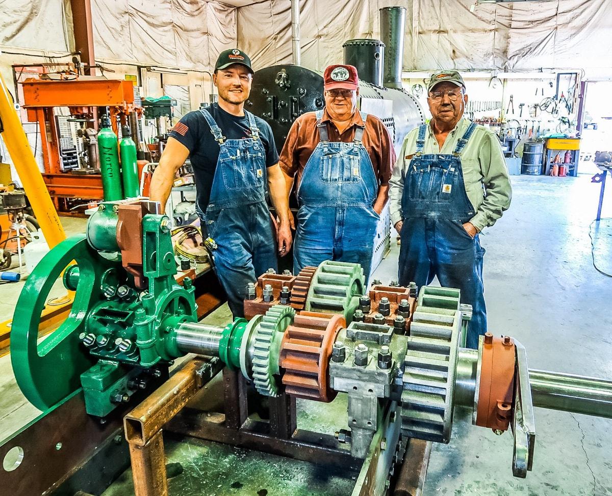 Engine Assembled onto fixture