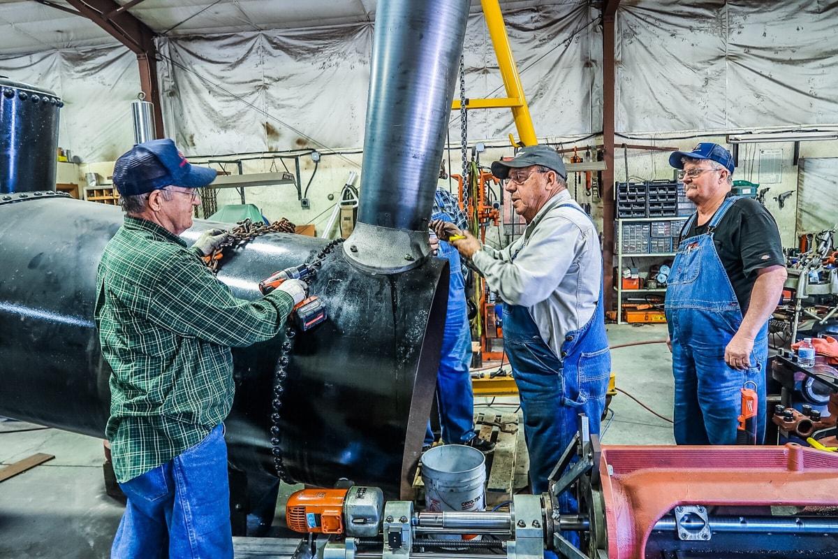 Installing the Smoke Stack
