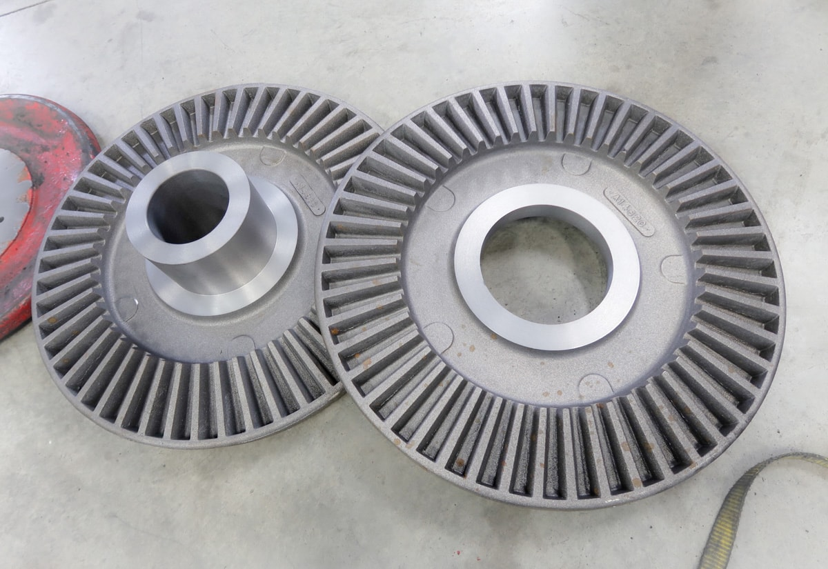 Machined differential bevel gears