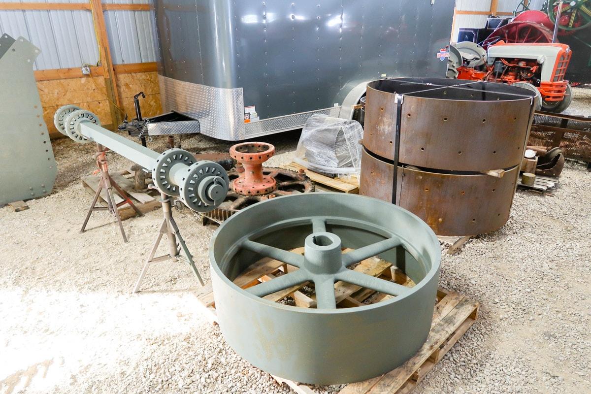 Flywheel and axle