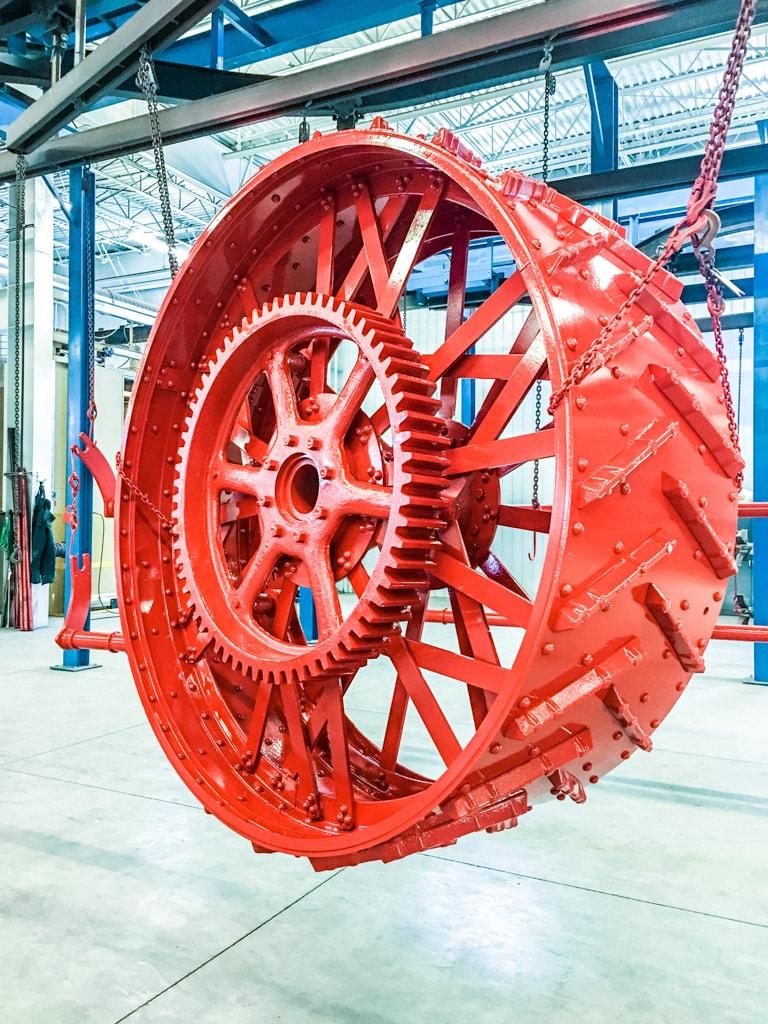 Cured powdercoated wheel