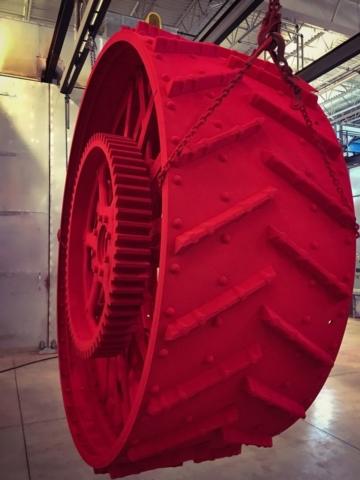 Powder raw form on wheel