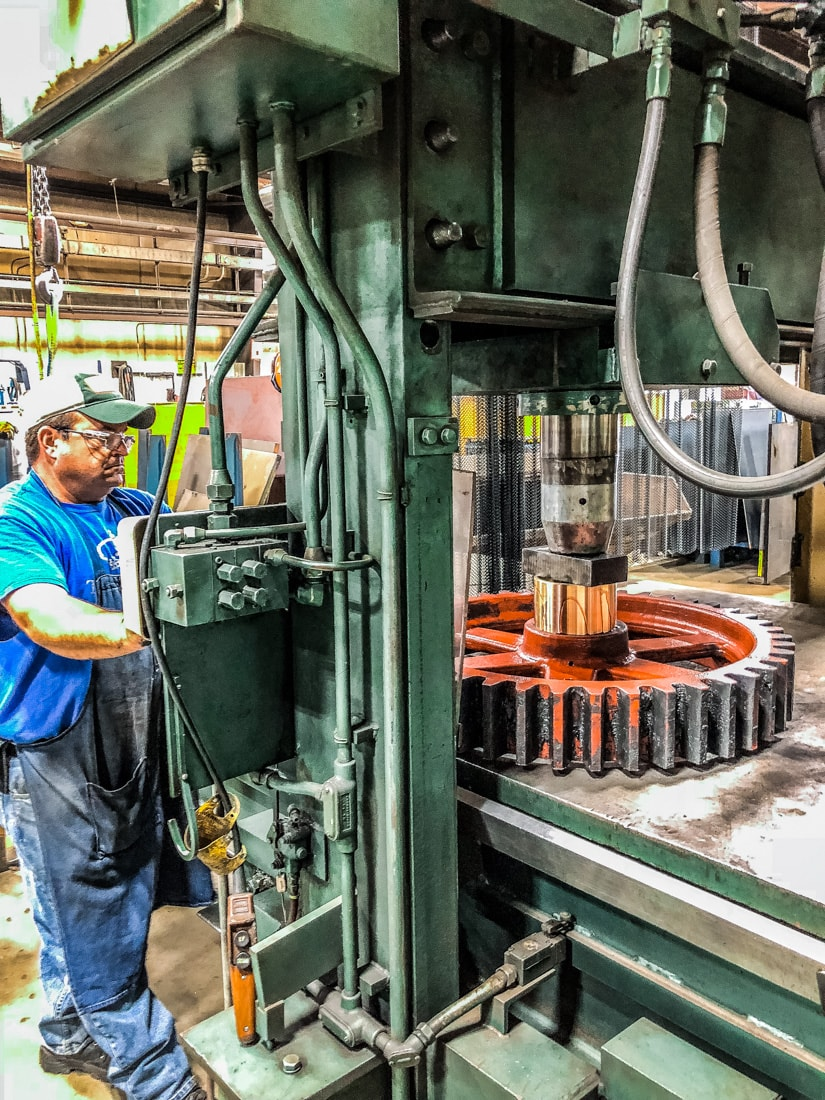 Rob Grewe at MJ pressing in bushing